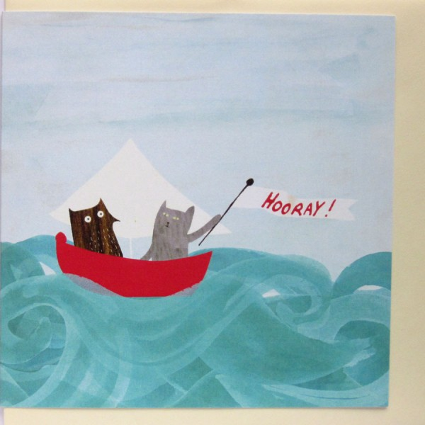owl at sea with pussycat card