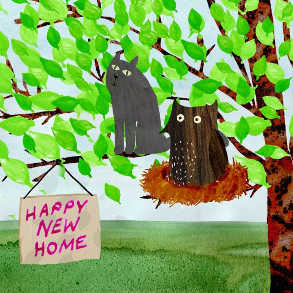 owl and pussycat greetings card