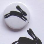 black rabbit badge greetings card
