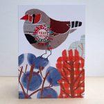 handmade greetings cards the black rabbit birds badges