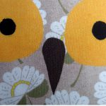floral owl print accent cushion by the black rabbit