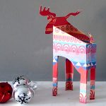 paper reindeer decoration kit by the black rabbit