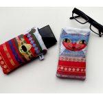 handmade pattern bear glasses case by the black rabbit
