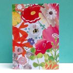 bee and flowers badge card by the black rabbit