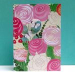 floral butterfly badge greetings card by the black rabbit