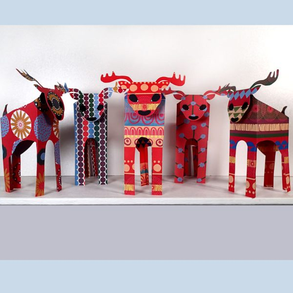paper reindeer decoration kit by the black rabbit