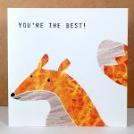 fox greetings card by the black rabbit