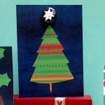 christmas tree and star badge greetings card by the black rabbit