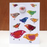 parrots badge card by the black rabbit