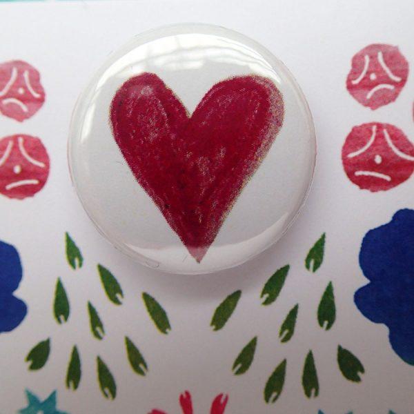 bird heart wedding badge greetings card by the black rabbit