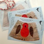 paper decorations robins by the black rabbit