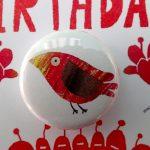 tropical bird badge card by the black rabbit