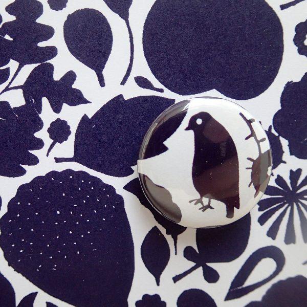 blue flowers badge cardby the black rabbit